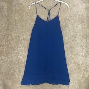 Flowy Blue Cocktail Dress